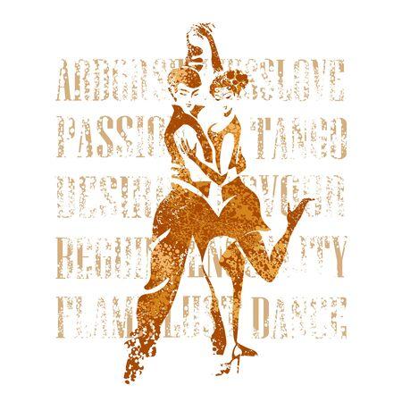 passionate Argentine tango Archivio Fotografico - 139166146