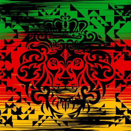 lion rasta pattern