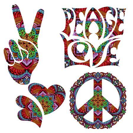 symbole hippie rétro