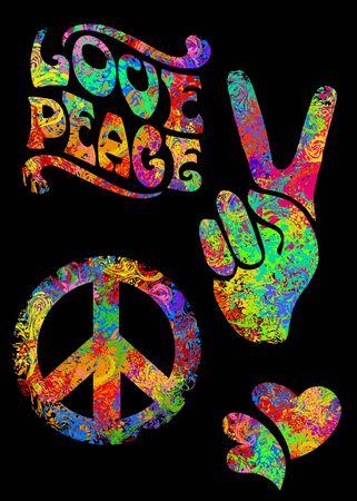 retro hippie symbol Stock fotó - 149454594