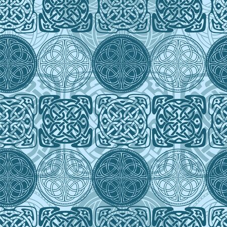 Nordic Celtic seamless pattern Illustration