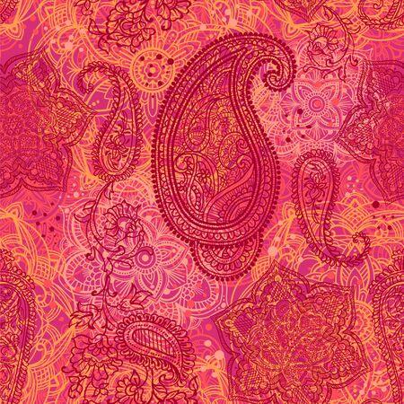 Paisley seamless pattern Vektorové ilustrace