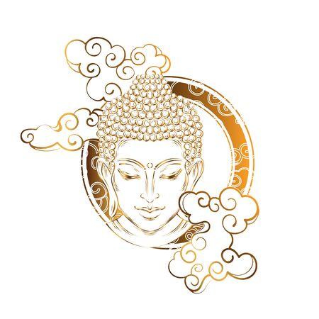 Buddha tattoo boho style Illustration