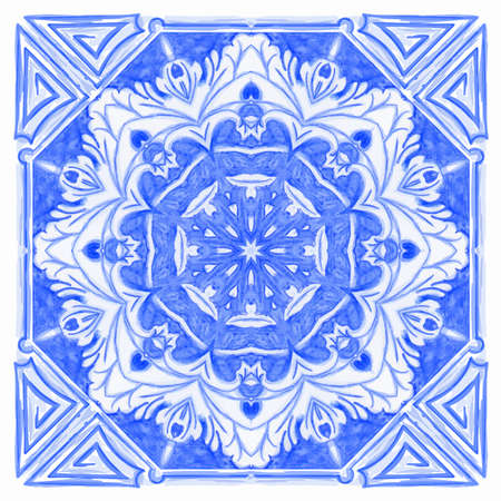 Azulejos Portuguese watercolor