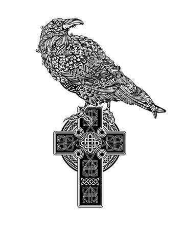 Bird illustration background.