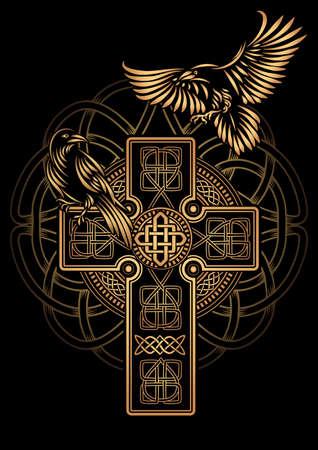 Odins Celtic Raven ilustration