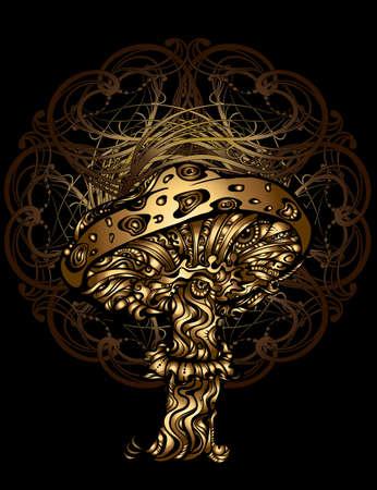 magic mushrooms vector illustration Vettoriali