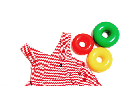 childrens summer dress with straps Stockfoto