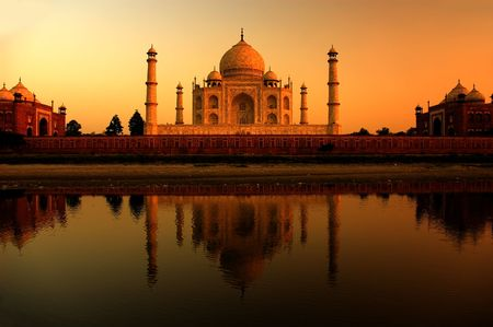 india people: taj mahal Stock Photo