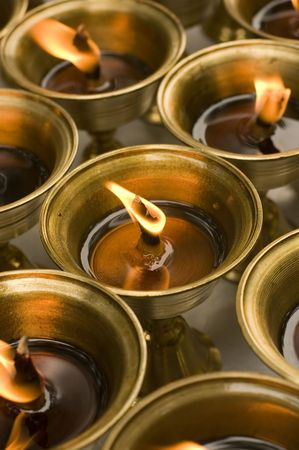 candil: India l�mpara de aceite  Foto de archivo