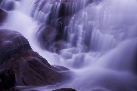 waterfall in blue tone photo