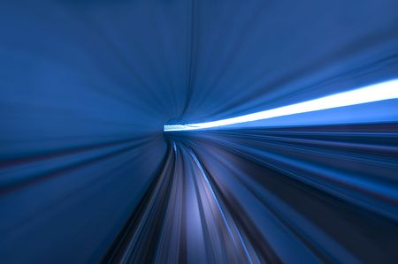 tunnel in blur motion  Stock Photo - 3416604