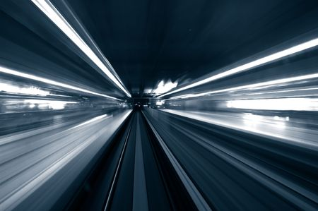 train station in blur motion Stock Photo - 3416599