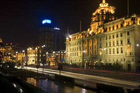 shanghai the bund night view photo