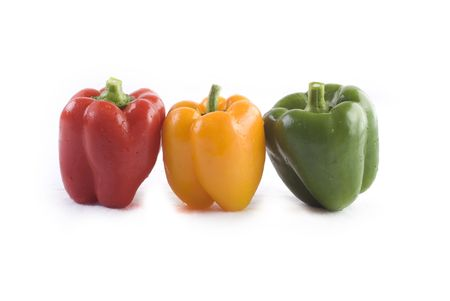 isolated peppers  photo