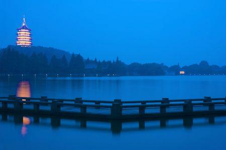 famous xihu ,hangzhou in china photo