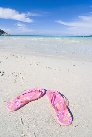 voluptuous: beach with slippers
