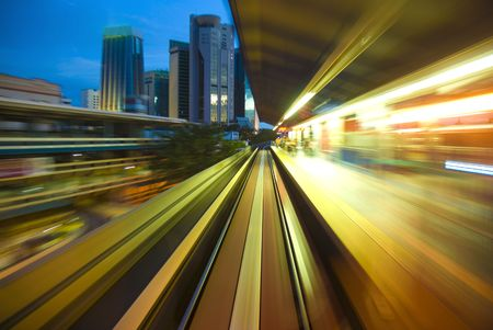 train station in blur motion  photo