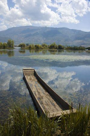 yunnan: dali,lake in china Stock Photo