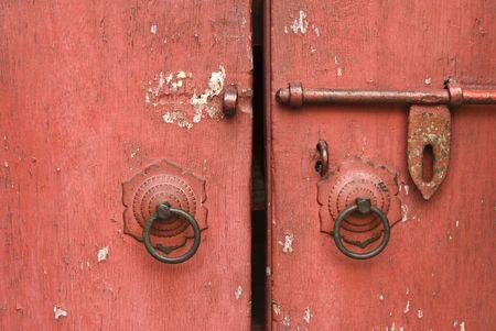 Beautiful decor lock on the door photo