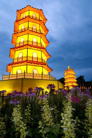 chinese pagoda during dawn Stock Photo - 5796434
