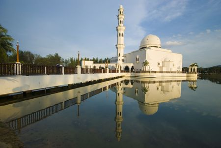 islamic wonderful: mosque with reflection