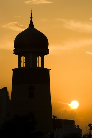 mosque silhouette during sunset  photo
