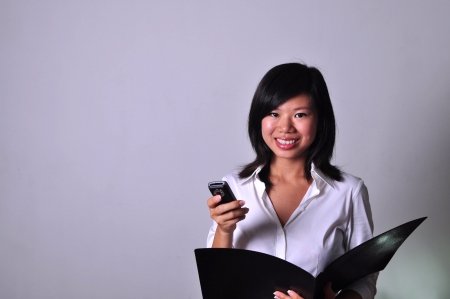 asian business girl Stock Photo - 14378774