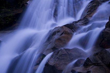 japanese purple tone waterfall photo