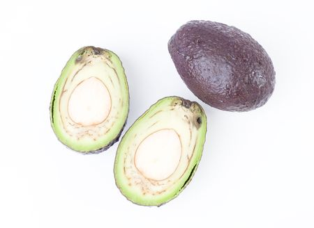 isolated avocadoes photo