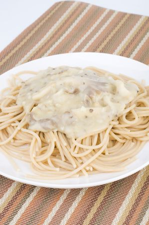 Spaghetti carbonara pasta photo