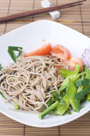 japanese soba noodle Stock Photo - 6257641