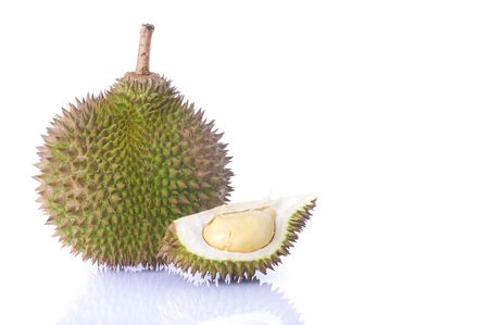 tropical fruit durian with white background Stock Photo - 6387498