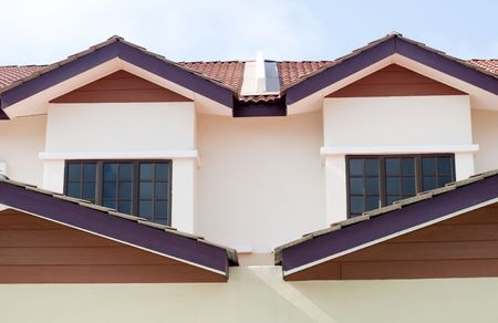 new houses for sale in malaysia with blue sky Stock Photo - 6846846