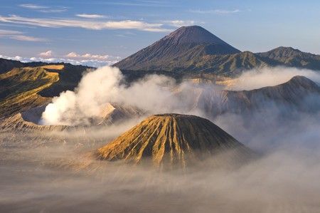active volcano: bromo active volcano in java ,indonensia archipelago