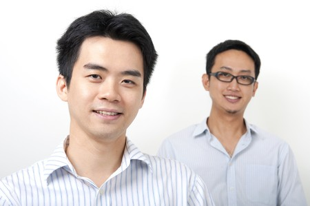 Two Asian young executives Stock Photo - 7888673