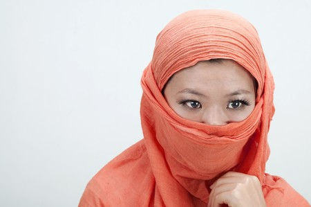 portrait if an islamic women photo