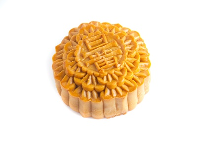 traditional chinese mooncake isolated in white photo