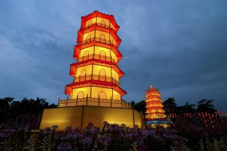 chinese pagoda during dusk Stock Photo - 8371386