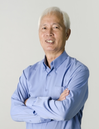 portrait of senior asian businss man photo