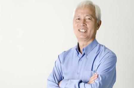 close up shot of senior asian business man  photo