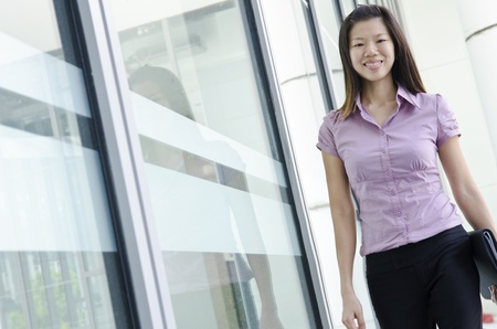place of employment: young asian executive