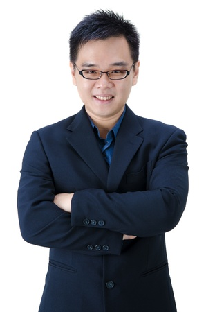 asian business man with hands crossed  photo