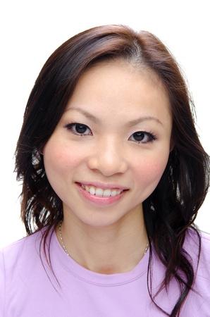 Close-up foto van Aziatische meisje glimlachen