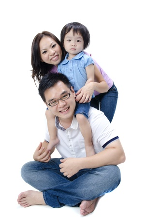two generation family: asian family