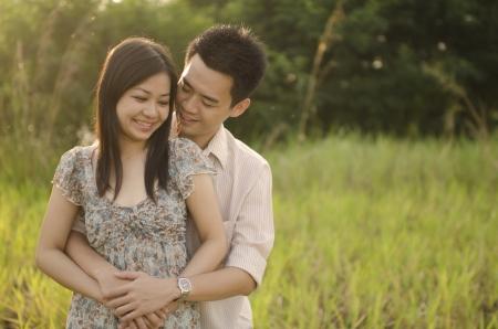 asian romantic couple