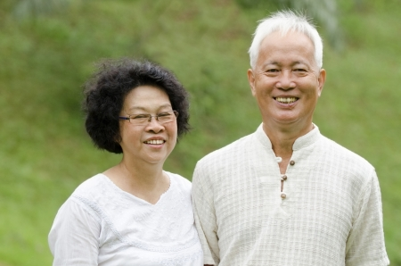 asian senior couple photo