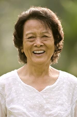 senior asian woman smiling Stock Photo - 10039276