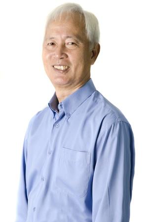 senior asian: portrait of senior asian businss man
