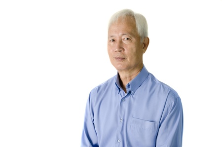 Asian senior man with isolated background Stock Photo - 10044860